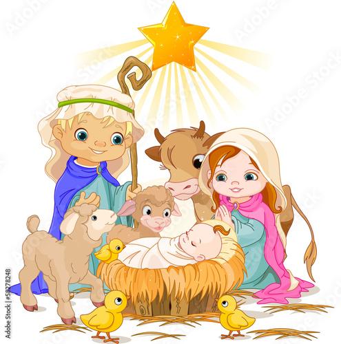Printed kitchen splashbacks Fairytale World Holy Family