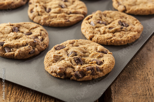 Papiers peints Biscuit Homemade Chocolate Chip Cookies