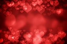 Red Glowing Valentine's Day Background