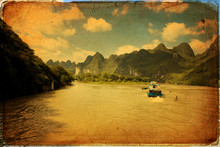 Guilin Karst Mountains Landscape