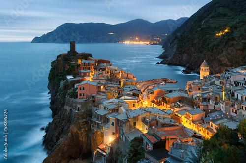 Cadres-photo bureau Bleu jean Vernazza, Cinque Terre, Italie