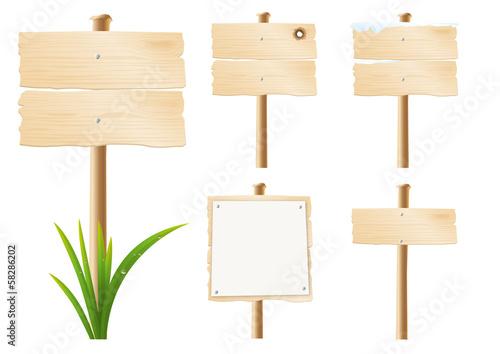 Slika na platnu Panneaux Bois x5