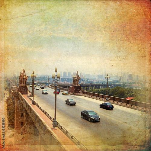 Fotografia Nanjing - Yangtze River Bridge, built in 1968
