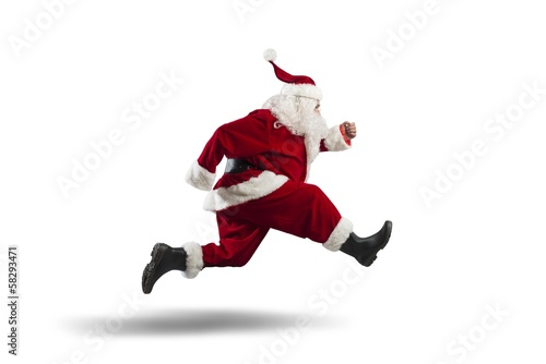 Photo  Running Santa Claus