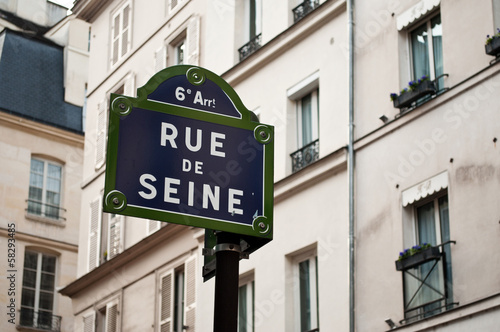 Fotografie, Obraz  Rue de Seine à Paris 6ièm