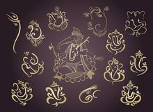 Ganesha, Aum, Hindu Wedding Card, Diwali, India