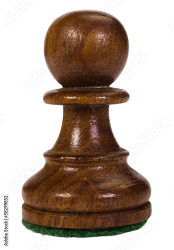 Fotografie, Obraz  Close-up of a pawn