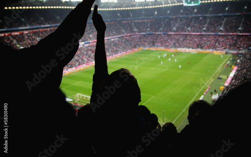 Papiers peints Stade de football stadion cheer people