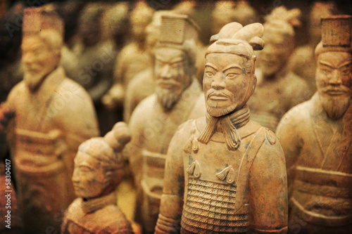 Spoed Foto op Canvas Xian Chinese terracotta army - Xian