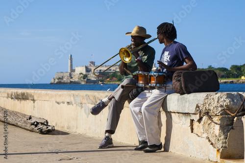Poster Havana musicos en el malecon