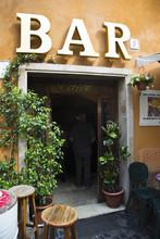 Entrance Of A Bar, Trastevere,...