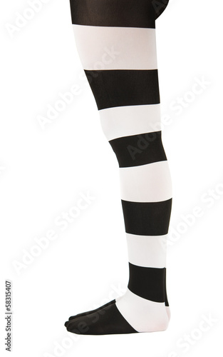 ea942e8ddf513 tights in black and white stripes on the legs girls - Buy this stock ...