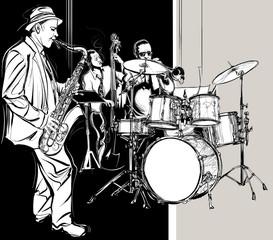 Fototapeta Jazz band