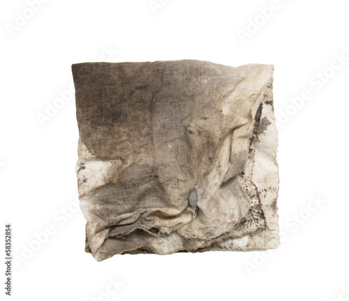 43aaea20b6fcd dirty rag on a white background - Buy this stock photo and explore ...