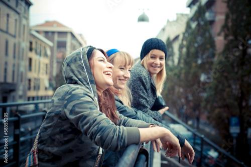 Fotografie, Obraz  three friends woman