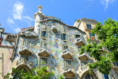 fototapeta na lodówkę Casa Batllo by Antoni Gaudi, Barcelona, Catalonia, Spain