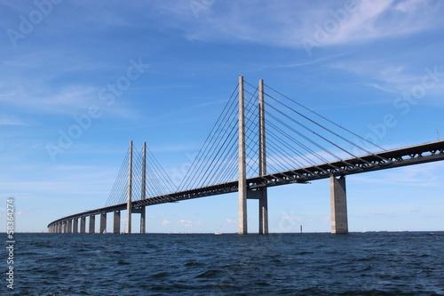 Tuinposter Bruggen Öresund Brücke - Verbindung zwischen Dänemark und Schweden