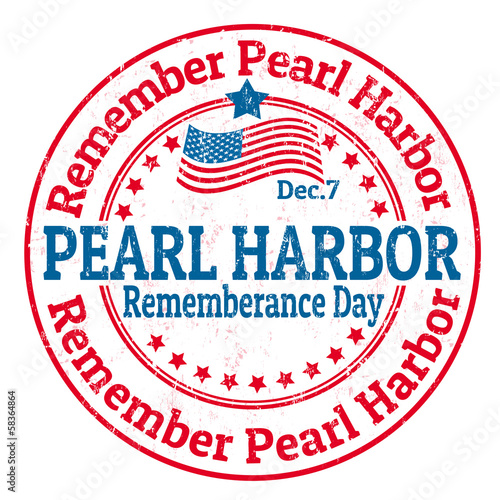 Obraz na plátně Pearl Harbor Rememberance Day stamp