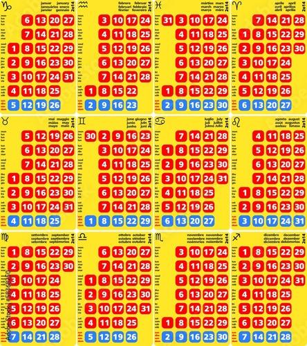 Calendario Anno 2014.Calendario Multilingua Anno 2014 Buy This Stock Vector And