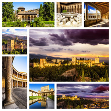 Alhambra Collage, Granada (Andalusia), Spain.