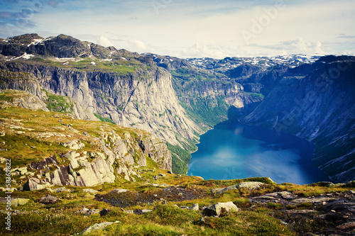 Photo  Norway Norwegian Landscape