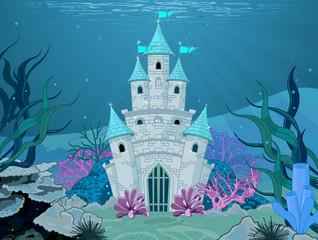 fototapeta podwodny zamek