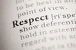 canvas print picture - Respect