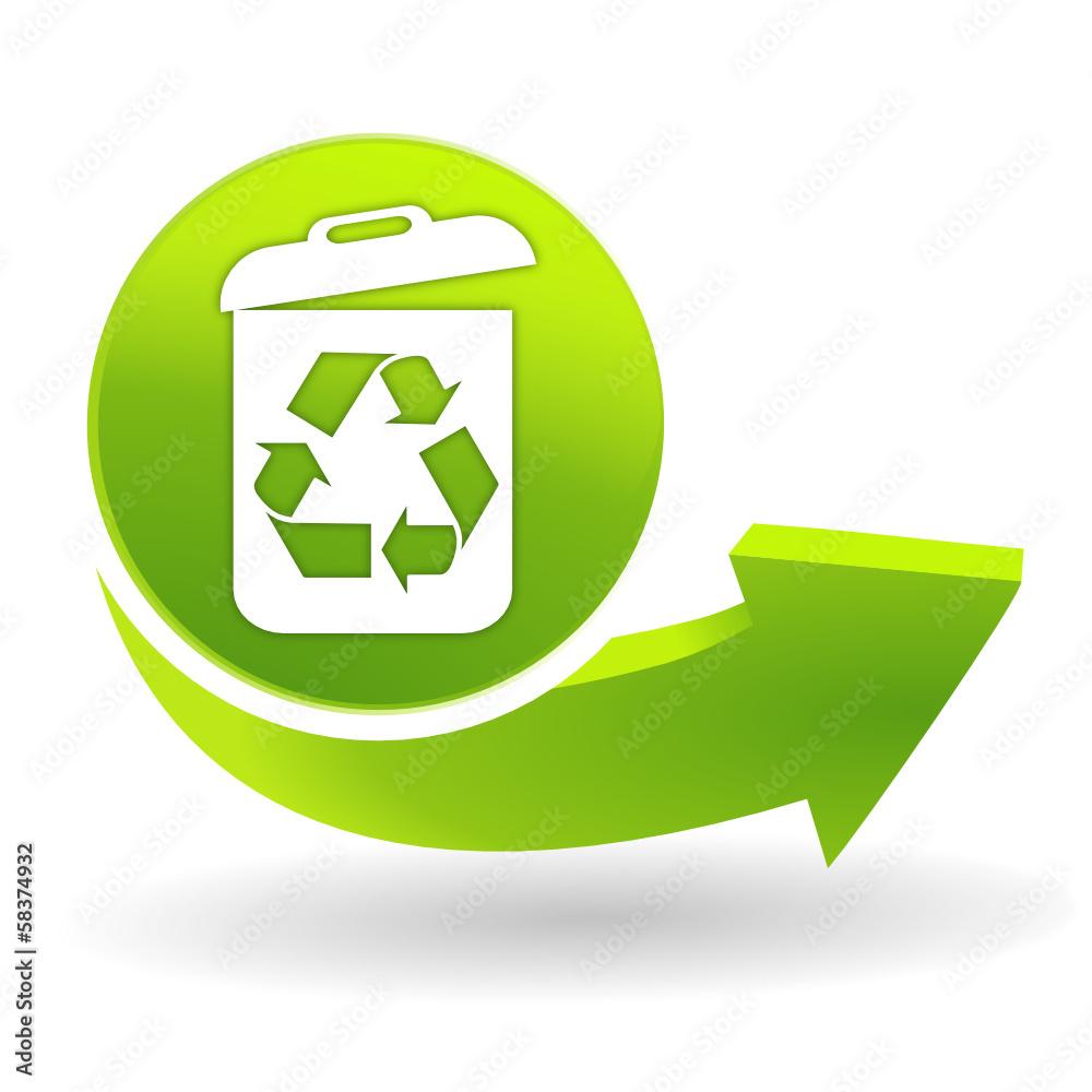 Le Papier Peint Est Il Recyclable recyclage sur symbole vert papier peint