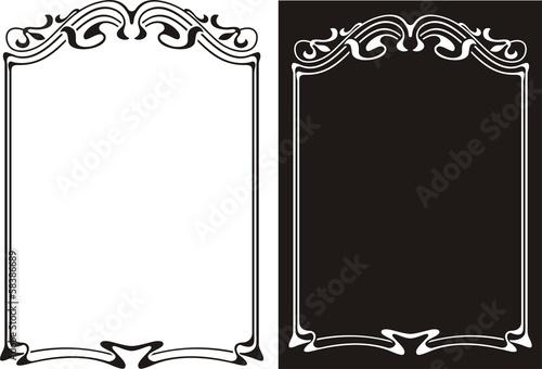 Fotografía  art nouveau frame - black and white