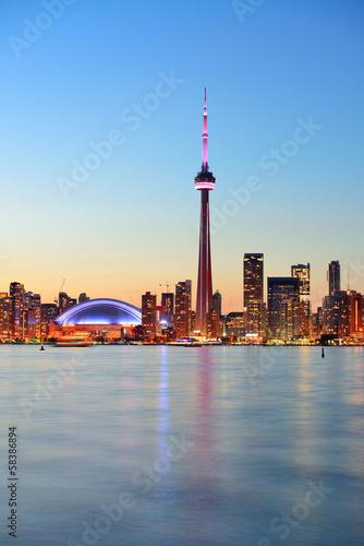 Staande foto Canada Toronto skyline
