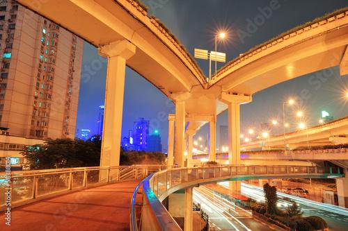 Photo  Highway bridge in Shanghai