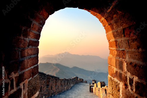 Muraille de Chine Great Wall morning