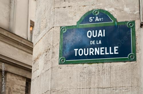Fotomural quai de la tournelle  à Paris 5ièm