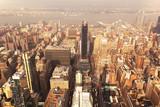 Widok na ulice Nowego Jorku z Empire State Building