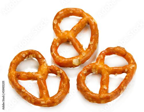 Fotografia Tasty pretzels isolated on white