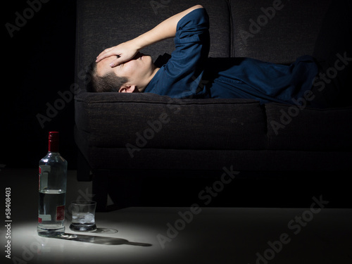 Alcoholism and Depression 1 Wallpaper Mural