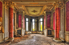 Empty Majestic Room In An Aban...