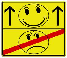 Smiley Gut Böse Schild  #131116-svg03