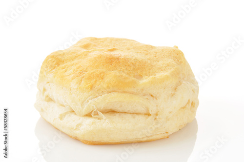 Silngle buttermilk biscuit Canvas Print