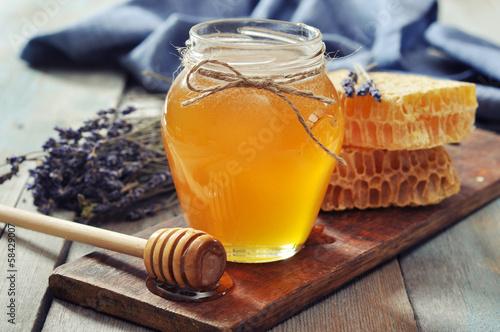 Obraz na płótnie Honey in jar