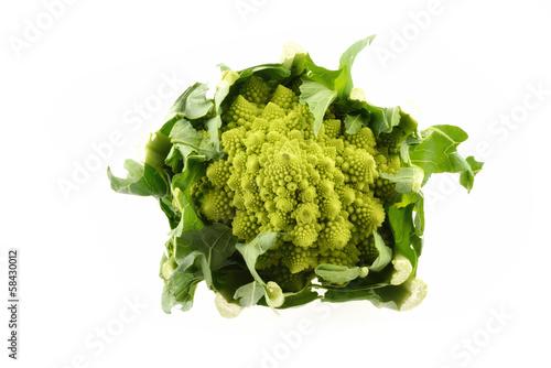 Fotografie, Obraz  Cavolfiore Broccolo Romano isolato su sfondo bianco