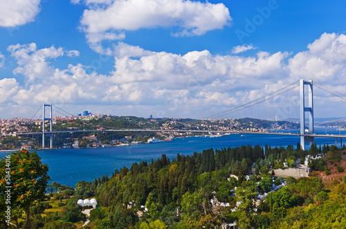 Fotografia  Bosphorus bridge in Istanbul Turkey