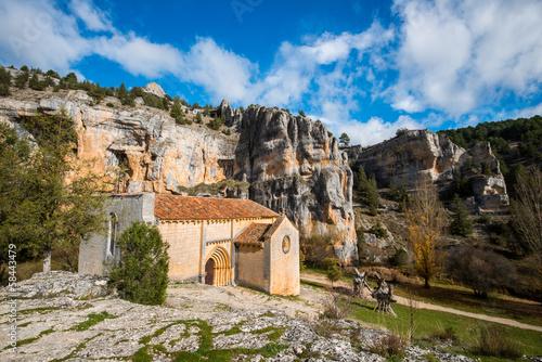 Ermita San Bartolomé. Rio Lobos. Soria. España