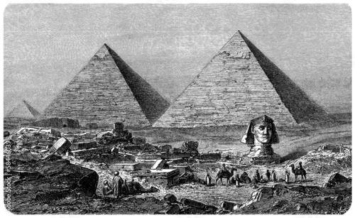 Papiers peints Vieux rose Gizeh (Egypt) - View : 19th century