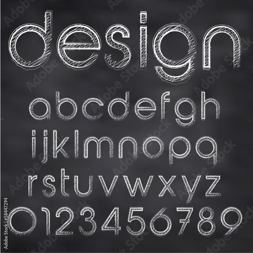 Fotografía  Chalk Sketched Font On Blackboard