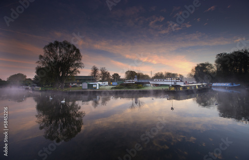 Fotografie, Obraz  lea valley sunrise 2