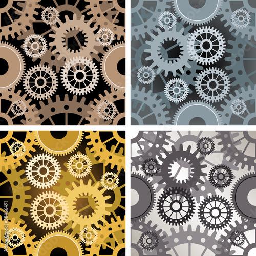 Seamless gear pattern Poster
