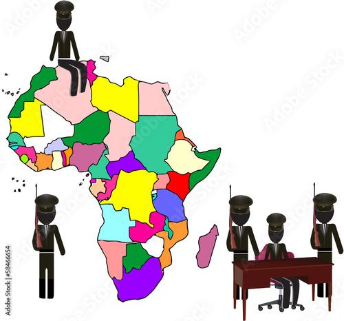 Fotografie, Tablou continente africano