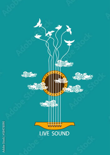 Obrazy muzyczne  musical-illustration-with-concept-guitar