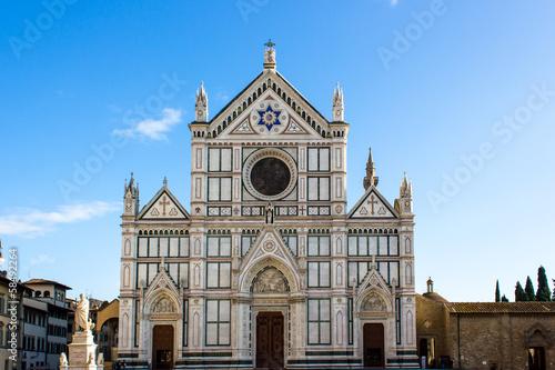 Fotografie, Obraz  facciata chiesa di Santa Croce a Firenze